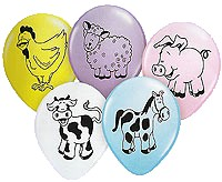 Farm Animal Printed Balloons