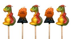 Dinosaur Candles - pack of 5,