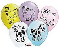 farm animal printed balloons