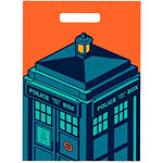 Doctor Who Tardis Party Plastic Party Bags pk 6