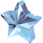 Light Blue Star Shaped Balloon Weight