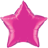 Magenta Pink Star Balloon