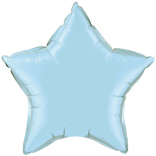Pale Blue Star Balloon