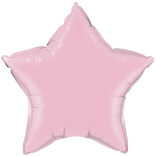 Pale Pink Helium Star Foil Balloon