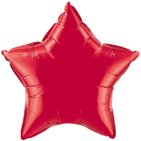 Ruby Red Star Foil Balloon