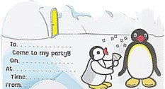 Pingu Penguin Party Invites, pack of 8 with envelopes by Fun Party Supplies