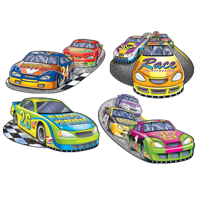 Racing cardboard cutout party decorations
