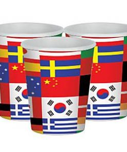 International Flag Party Paper Cups