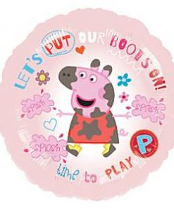 Lets Put Our Boots On peppa Pig Balloon