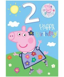 Peppa Pig 2nd Birthday Card