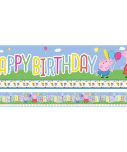 Peppa Pig Party Happy Birthday Banner - 2.3m