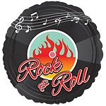 Rock N Roll Classic Foil Balloon