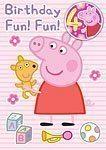 Peppa Pig 4th Birthday Card