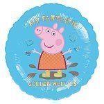 """Peppa Pig My Fantastic Golden Wellies Foil Balloon - 18"""""""