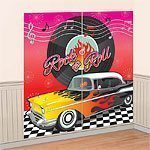 Rock N Roll Grease 50s Classic Scene Setter - Wall Decorating Kit