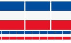 French Flag Bunting - Plastic 7m