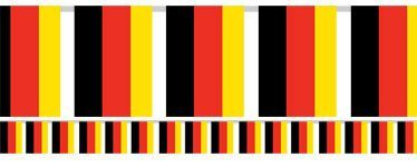 German Flag Bunting - Plastic 7m