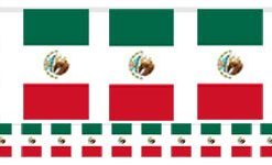 Mexican Flag Bunting - Plastic 18m