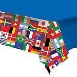 World Cup International Flag Plastic Tablecover 137cm x 274cm