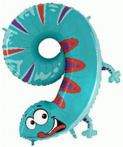 Gecko Number 9 Balloon