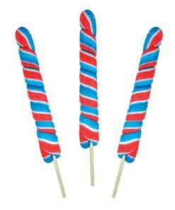 Red & Blue Twist Lollipops