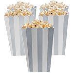 Silver stripy Popcorn boxes
