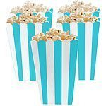Robins Egg Blue Stripy Popcorn Boxes Pk 5