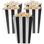 Black Stripy Popcorn Boxes Pk 5