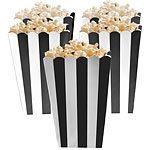 Black Stripy Popcorn Boxes Pk 5