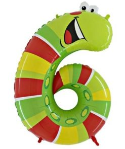 "Animaloons Caterpillar - Number 6 Age Balloon - 40"""