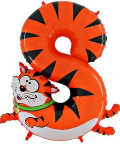 """Animaloons Cat - Number 8 Age Balloon - 40"""""""
