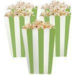 Kiwi Lime Green Stripy Popcorn Boxes Pk 5