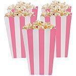 Pink Stripy Popcorn Boxes Pk 5