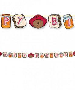 Paddington Bear Party Happy Birthday Letter Banner