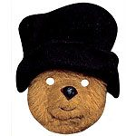 Paddington Bear Card Mask - black hat - each