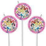 Disney Princess & Animals Drinking Straws Pk 6
