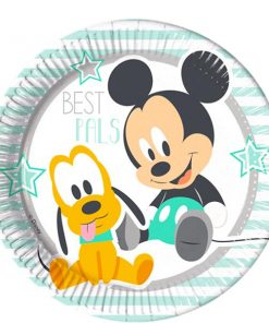 Baby Mickey Party Paper Plates
