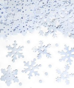 White Snowflake Table Confetti