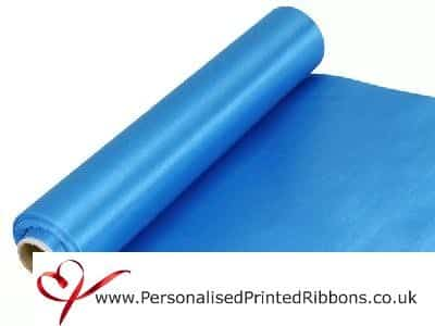 Turquoise Blue Satin Ribbon Extra Wide