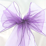 Lilac Organza Chair Sashes - pack of 6