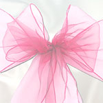 Pale Pink Organza Chair Sashes - pack of 6