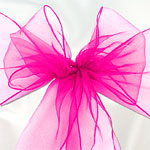 Hot Pink Chair Sashes - pack of 6