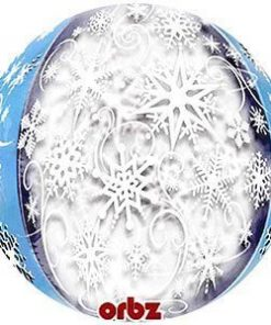 "Disney Frozen Snowflakes Orbz 25"" Long Lasting Balloon"
