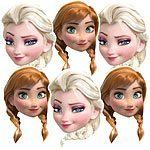 Disney Frozen Masks - pack of 6