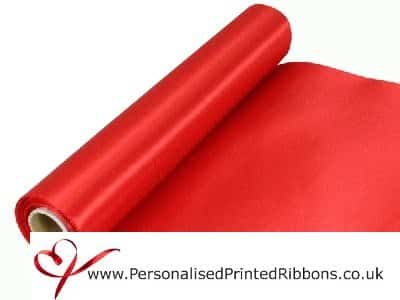 Red Extra Wide Satin Ribbon 290mm -  20 metre Roll