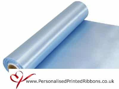 Light Blue Extra Wide Satin Ribbon 290mm -  20 metre Roll
