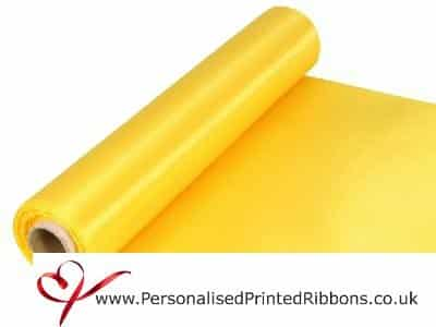 Yellow Extra Wide Satin Ribbon 290mm -  20 metre Roll