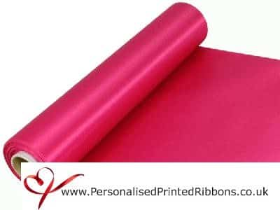 Fuchsia Bright Pink Extra Wide Satin Ribbon 290mm -  20 metre Roll