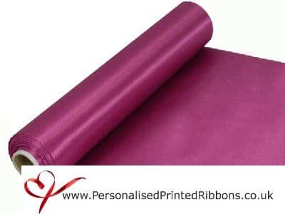Rose Pink Extra Wide Satin Ribbon 290mm -  20 metre Roll
