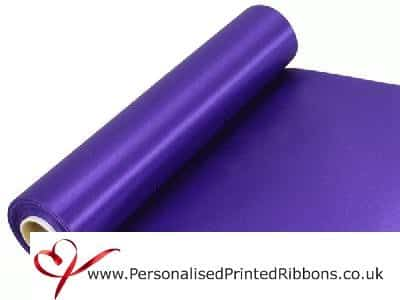 Purple Extra Wide Satin Ribbon 290mm -  20 metre Roll